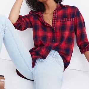 Madewell Flannel Ex-Boyfriend Shirt Plaid button